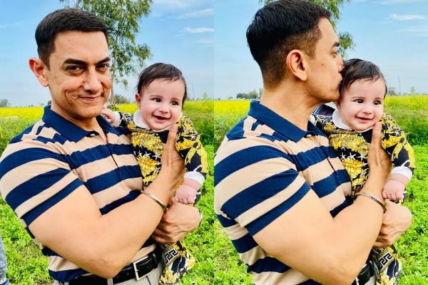 aamir khan cute pictures with gippy grewal baby gurbaaz viral on internet