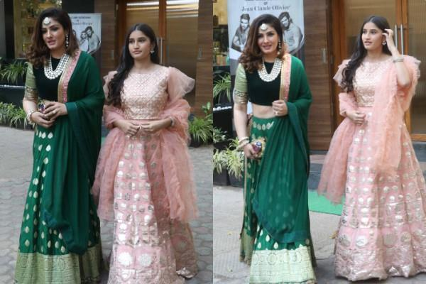 raveena tandon spotted outside the salon with daughter rasha