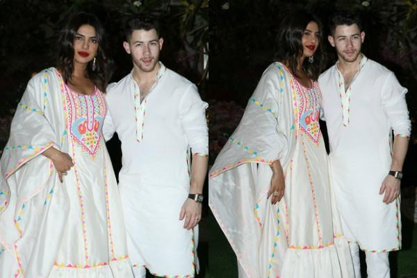 priyanka chopra stylish entry at isha ambani holi party with hubby nick jonas