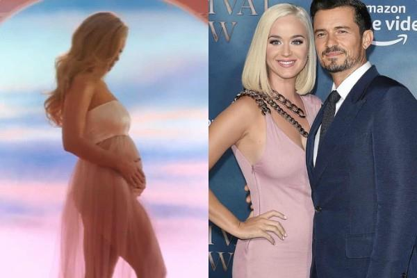 american singer katy perry announces her pregnancy with fiance orlando bloom
