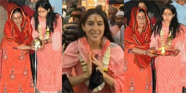 sara ganga aarti with mother and reporting from kashi vishwanath temple