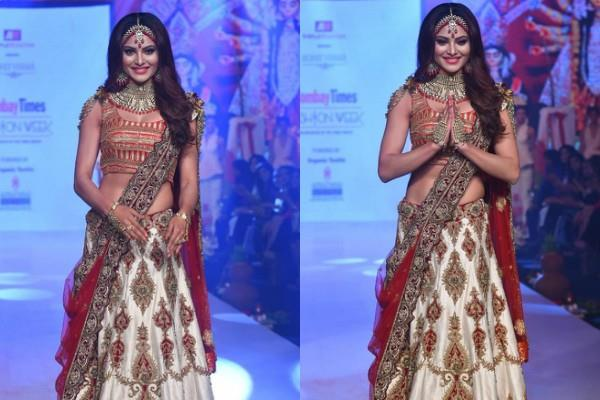 urvashi rautela looks gorgeous as she attends bombay times fashion week