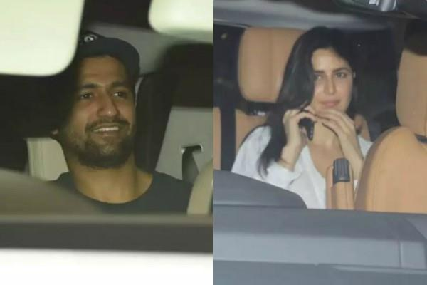 katrina vicky spotted at friend house for dinner party