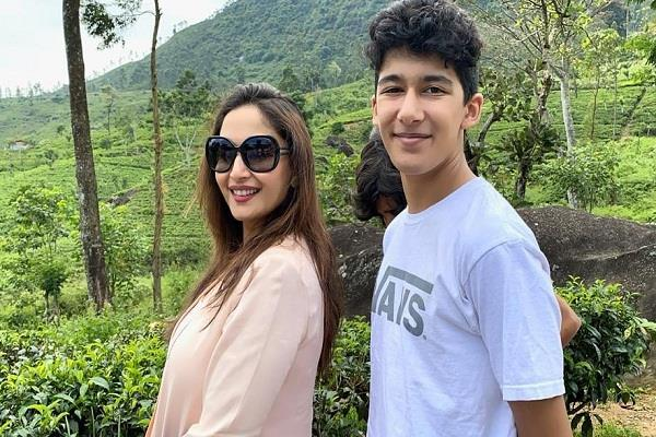 madhuri dixit wishes her son arin on birthday