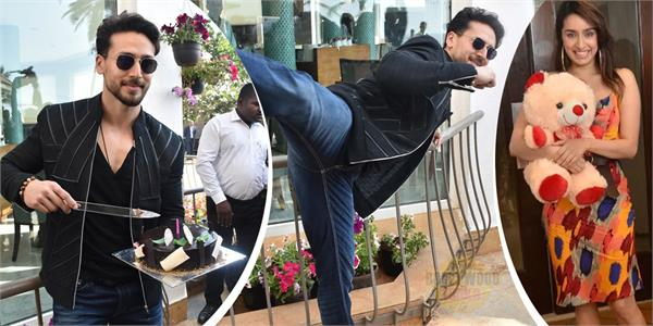 tiger shroff cut his birthday cake with fans during movie promotion