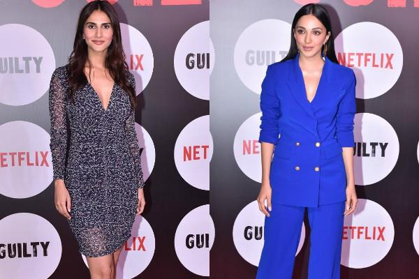 kiara advani and vaani kapoor spotted at guilty screening