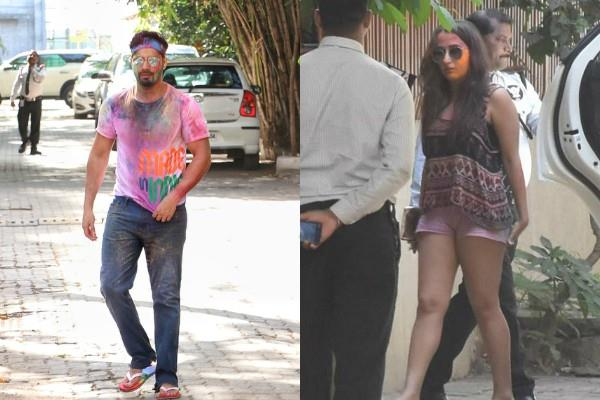 varun dhawan attend aarti shetty holi party with girlfriend natasha dalal