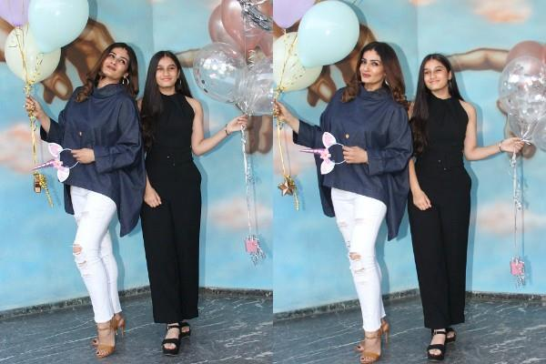raveena tandon celebrates daughter rasha birthday