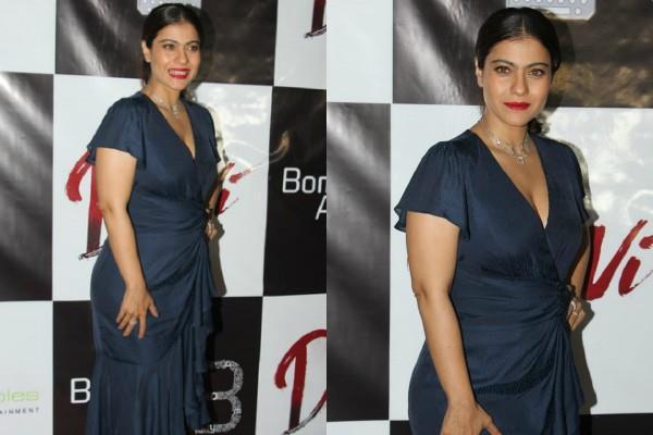 kajol looks gorgeous as she attends short movie devi success bash