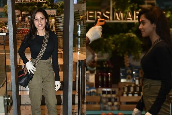 nushrat bharucha spotted at food hall