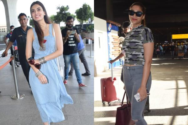 diana penty and saiee manjrekar spotted at airport