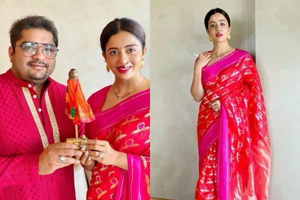 nehha pendse celebrate first gudi padwa after marriage in absolute quarantine