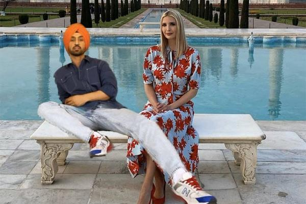 ivanka trump thanks diljit dosanjh for taking her to taj mahal