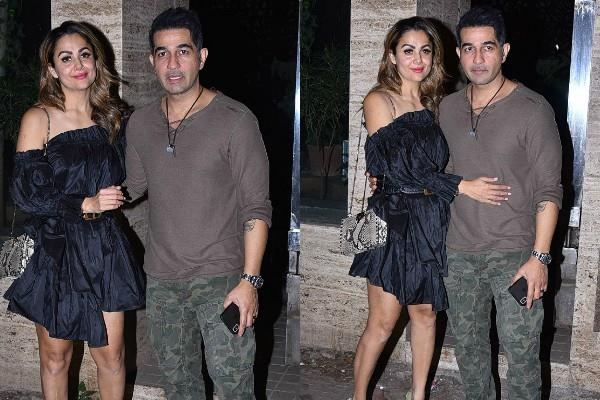 amrita arora attend birthday party with husband