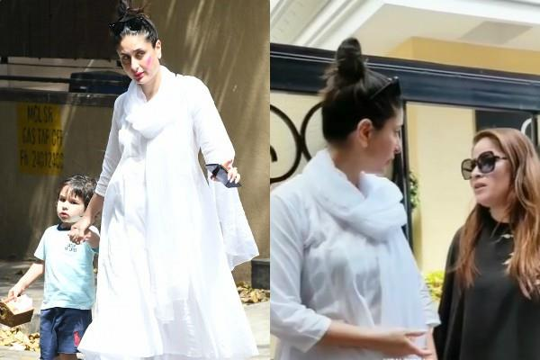 kareena kapoor khan irritated with fans as she spotted with son taimur ali khan