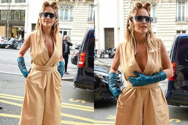 rita ora flaunts boldness in fashion week show