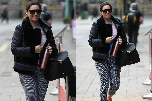 kelly brook spotted outside the radio city
