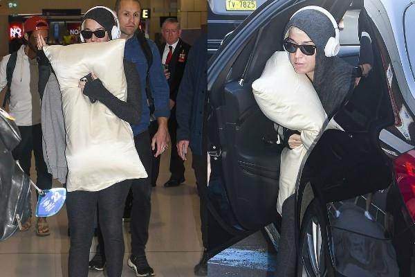 pregnant katy perry spotted at sydney airport