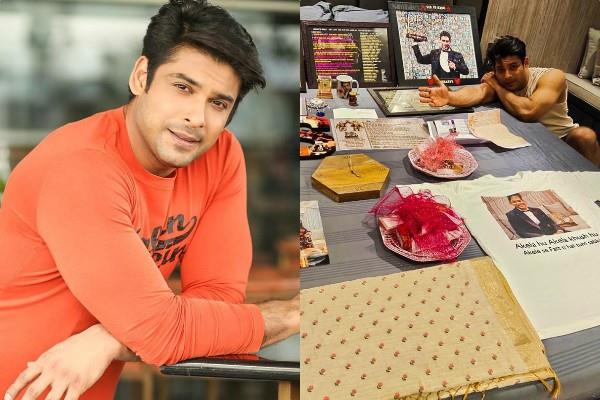fans gave sidharth shukla lots of gifts