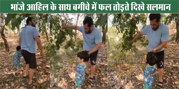 salman khan spend quality time with nephew ahil during self quarantine