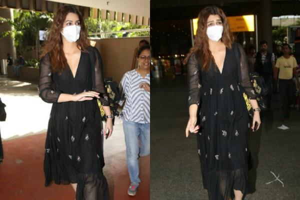 kriti sanon spotted at the airport