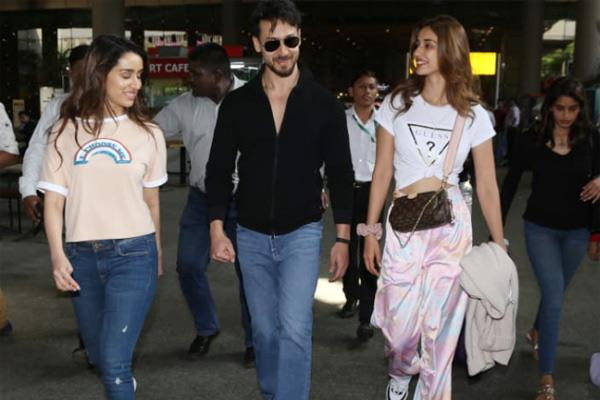 tiger spotted with girlfriend at mumbai airport see disha and shraddha pics