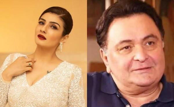 rishi kapoor raveena tandon gets angry when stones pelted at police