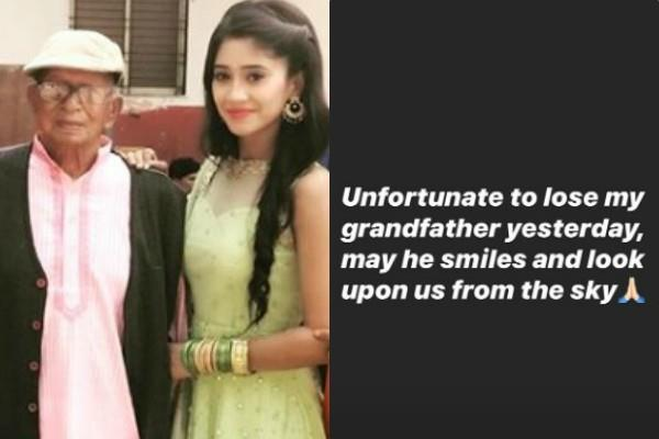 actress shivangi joshi grandfather passes away on her birthday