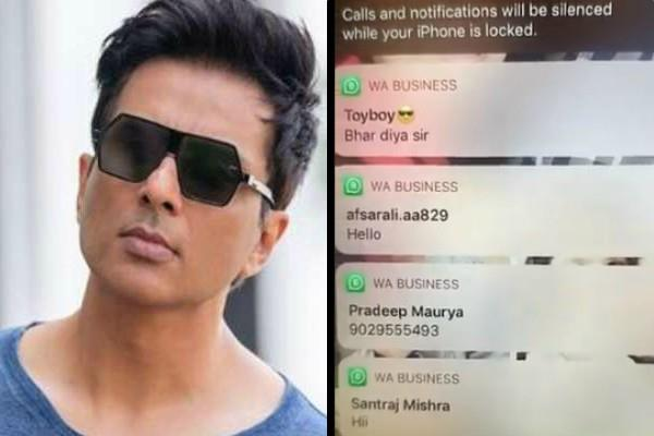 needy people sending message to sonu sood for help actor shared video