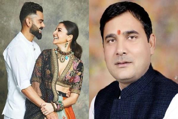 bjp mla nandkishor gurjar advises virat kohli to take divorce with anushka