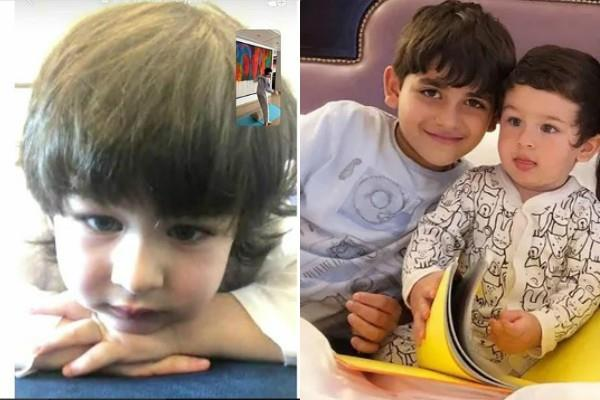 taimur ali khan make video call to brother kiaan during lockdown