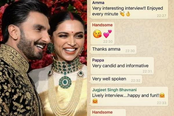 deepika padukone shares whatsapp family group screenshot