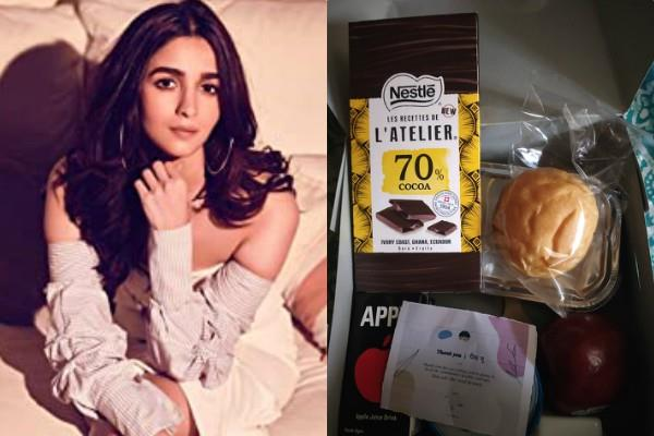 alia bhatt send chocolates and snacks to health workers