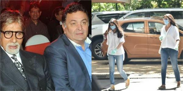 shweta bachchan nanda rishi kapoor 13thday prayer meet with daughter navya