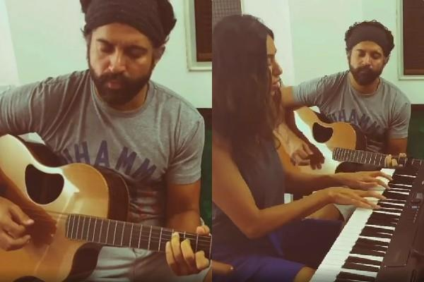 love birds farhan akhtar shibani dandekar best quarantine session at home