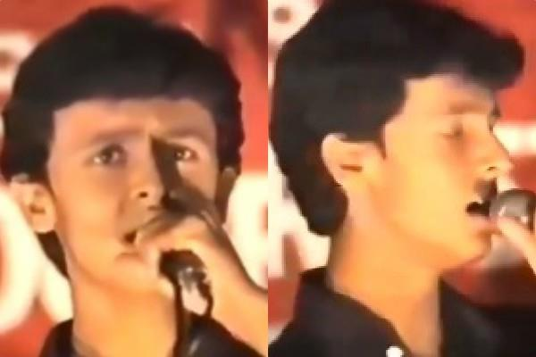 sonu nigam sung mahabharat title song 31 years ago on the stage