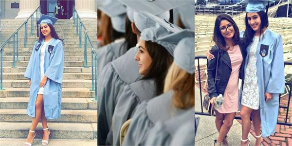 sara ali khan share graduation ceremony from columbia university