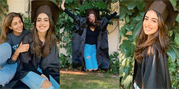 amitabh bachchan grand daughter navya graduated from college