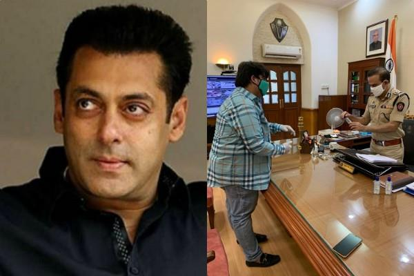 salman khan distributed 1 lakh sanitizer to the mumbai police