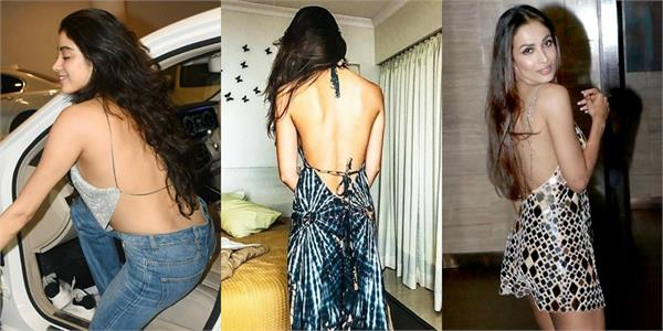 janhvi to malaika these bollywood actresses backless dress style