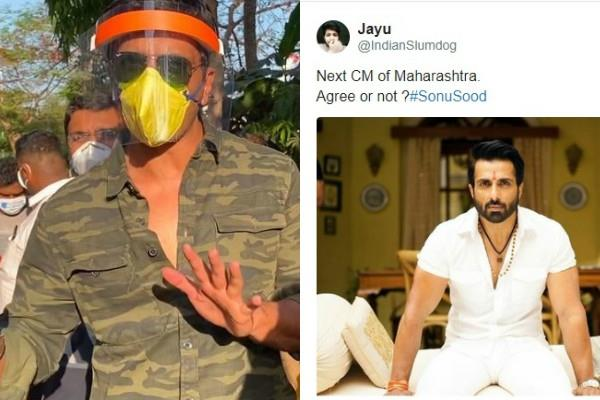 sonu sood helping migrants fans demands to make him maharashtra cm