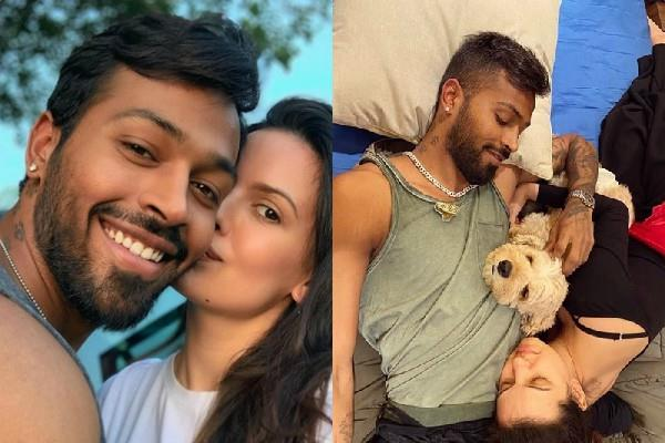 natasa stankovic share romantic picturewith fiance and cricketer hardik pandya