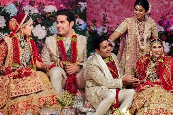 akash ambani shloka mehta grand wedding pictures viral