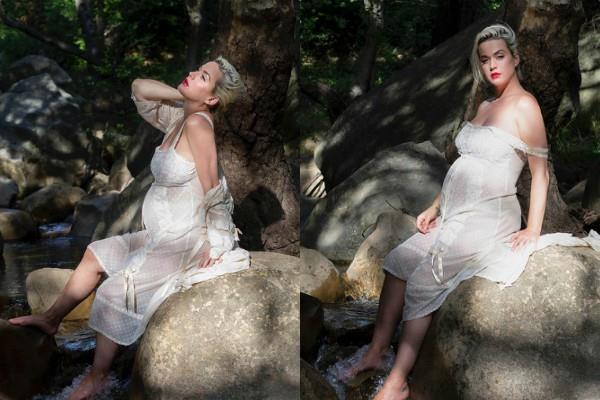 व्हाइट ड्रेस में स्टनिंग दिखीं सिंगर कैटी पेरी, तस्वीरों में फ्लाॅन्ट किया बेबी बंप