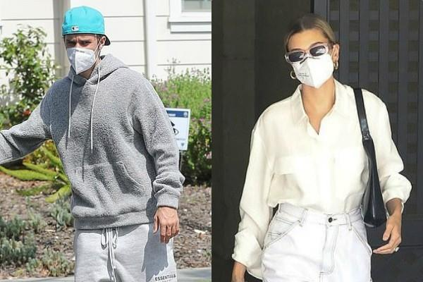 justin bieber and his wife hailey bieber latest pictures