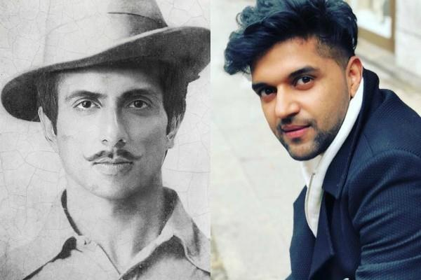 guru randhawa shares a photo of sonu sood in bhagat singh look