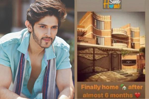 rohan mehra reached his hometown after six months