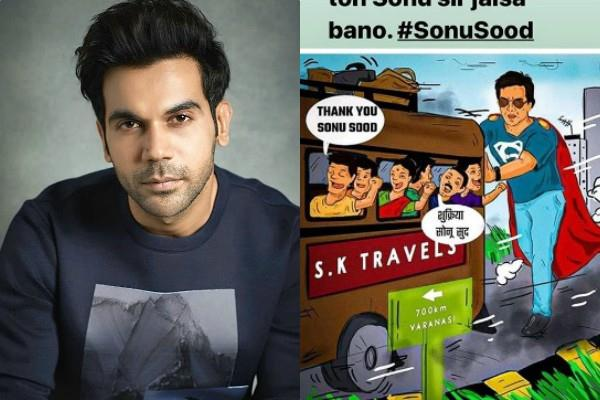 rajkummar rao praises sonu sood for helping migrants