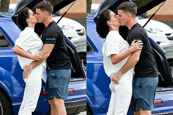 danielle lloyd romantic pictures with husband michael oneill