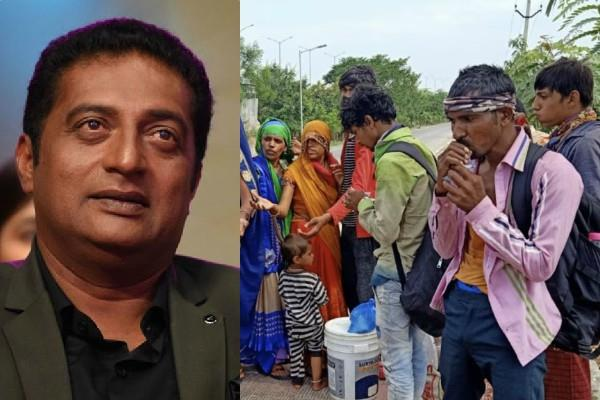 prakash raj helping migrant laborers in corona crisis